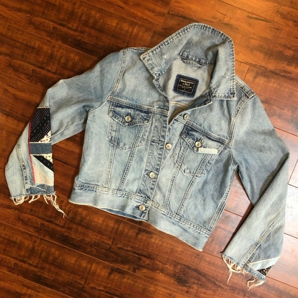 Abercrombie & Fitch New York Patchwork Jean Jacket